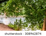 river waters flowing in the...   Shutterstock . vector #308962874