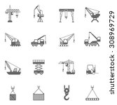 cranes for different... | Shutterstock .eps vector #308969729
