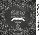 Chalk Birthday Invitation...