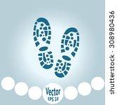 shoe print icon | Shutterstock .eps vector #308980436