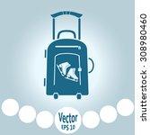 vector illustration with travel ... | Shutterstock .eps vector #308980460