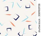 brush stroke  geometric pattern ... | Shutterstock .eps vector #308983958