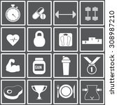 web icons set for fitness and a ... | Shutterstock .eps vector #308987210