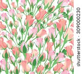 floral seamless pattern.... | Shutterstock . vector #309000230