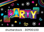 music party funky retro image... | Shutterstock .eps vector #30900100