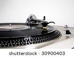 professional dj turntable   Shutterstock . vector #30900403