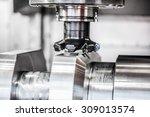 metalworking cnc milling... | Shutterstock . vector #309013574