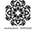 decorative wallpaper design in... | Shutterstock .eps vector #30901405