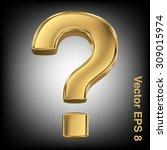 golden shining metallic 3d... | Shutterstock .eps vector #309015974