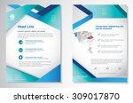 vector brochure flyer design... | Shutterstock .eps vector #309017870