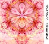 Abstract Fractal Star Flower...