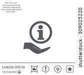 information sign icon  vector... | Shutterstock .eps vector #309025220