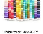 Swatch Of Colorful Thread On...