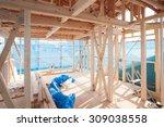 construction site of wooden... | Shutterstock . vector #309038558