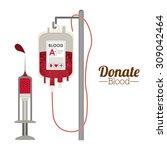blood donation digital design ... | Shutterstock .eps vector #309042464