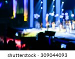 silhouette concert in front of... | Shutterstock . vector #309044093