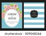 romantic invitation. wedding ... | Shutterstock .eps vector #309048266
