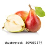 Ripe Pears Close Up Isolated On ...