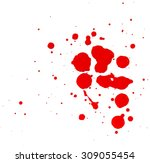 Small photo of Red blob on a white background.