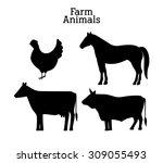 farm food digital design ... | Shutterstock .eps vector #309055493