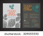 vector menu template. magazine... | Shutterstock .eps vector #309055550