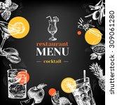 restaurant chalkboard menu.... | Shutterstock .eps vector #309061280