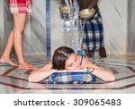 young girl in turkish bath ... | Shutterstock . vector #309065483