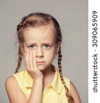 little girl tooth pain   Shutterstock . vector #309065909