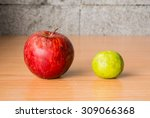 red apple  lime and coffee bean ... | Shutterstock . vector #309066368