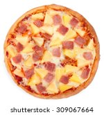 hawaiian pizza isolated on... | Shutterstock . vector #309067664