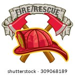 Fireman Hat And Crossed Axes...