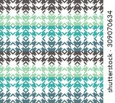 seamless pattern with waves  ... | Shutterstock .eps vector #309070634