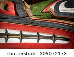 close up detailing of ancient... | Shutterstock . vector #309072173