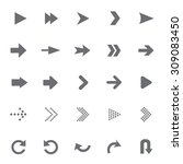 set of universal arrows vector... | Shutterstock .eps vector #309083450