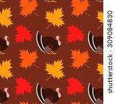 vector seamless thanksgiving...   Shutterstock .eps vector #309084830