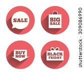 Sale Speech Bubble Icons. Buy...