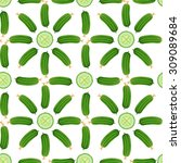 cucumbers   flowers  whole... | Shutterstock .eps vector #309089684