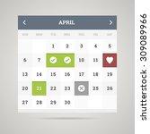 interface element   calendar... | Shutterstock . vector #309089966