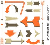 retro arrow designs   set of... | Shutterstock .eps vector #309092444
