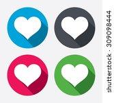 love icon. heart sign symbol....   Shutterstock .eps vector #309098444