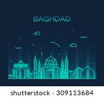 baghdad skyline  detailed... | Shutterstock .eps vector #309113684