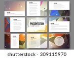 set of 9 vector templates for... | Shutterstock .eps vector #309115970