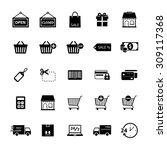 online shopping icon. shopping... | Shutterstock .eps vector #309117368