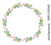 the floral concept of circle... | Shutterstock . vector #309119540