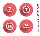 return of goods within 7 or 14... | Shutterstock .eps vector #309120479