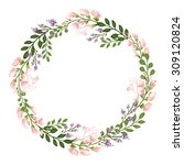 vector floral concept of circle ... | Shutterstock .eps vector #309120824