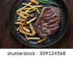 Grilled Ribeye Beefsteak With...
