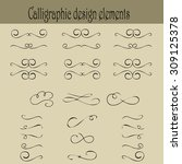 set of calligraphic design... | Shutterstock .eps vector #309125378