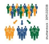 businessman target group   Shutterstock .eps vector #309132038