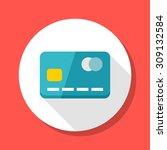 credit card icon  vector... | Shutterstock .eps vector #309132584